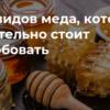5 vidov meda kotorye obyazatelno stoit poprobovat